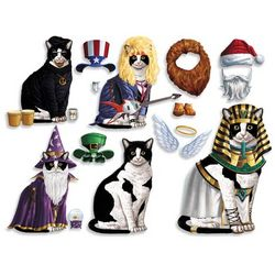 Black and White Cat Dress Up Magnets