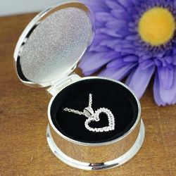 Heart Pendant Necklace with Engraved Box