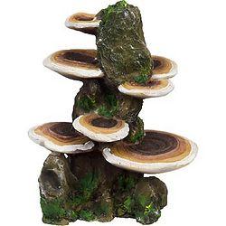 Rock with Mushrooms Aquarium Ornament