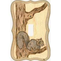 Crouching Squirrel Switchplate