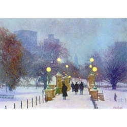 Snowfall, Boston Public Garden Holiday Cards