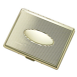 Personalized Single Sided Gold Cigarette Case