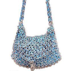 Turquoise Spark Soda Pop-Top Handbag