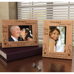 Personalized Always Daddy's Girl Wooden Picture Frame