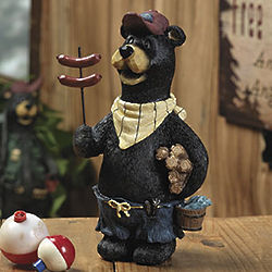 Bear with Hot Dogs Statue