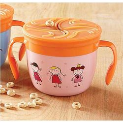 Pink Gobble 'n Go Kid's Food Cup
