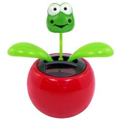 Solar Power Dancing Flower Frog Toy