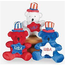 Plush Patriotic Bears