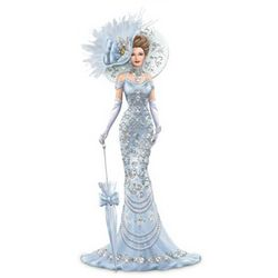 Thomas Kinkade Timeless Reflections Elegant Lady Figurine