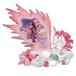 Unicorn of Peace Figurine with Fairy Art