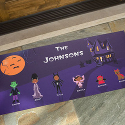 Personalized Oversized Halloween Family Doormat