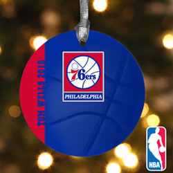Personalized NBA Basketball Christmas Ornament