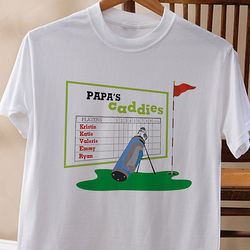 His Favorite Caddies Personalized Adult T-Shirt