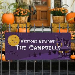 Haunted House Personalized Banner