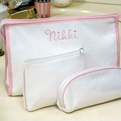 Personalized Terry Cloth Cosmetic Bags