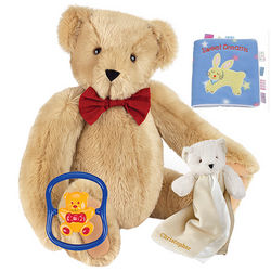 Big Hug Bear with Buddy Blanket, Rattle and Book