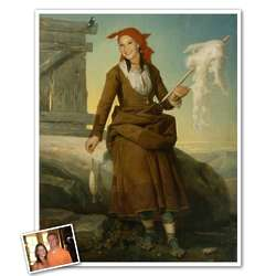 Classic Painting The Spinner Personalized Framed Print