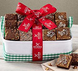 Chocolate, Peanut Butter & Fudge Nut Brownie Gift Box