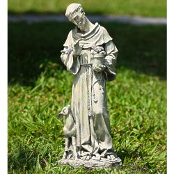 St. Francis of Assisi with Deer Garden Statue