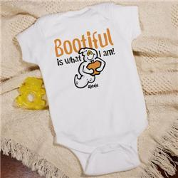 Bootiful Ghost Personalized Halloween Infant Creeper