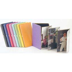Leather Accordian Photo Album Picture Frame