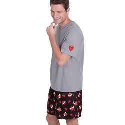 Tattoo Silk Short Pajamas for Men
