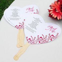 DIY Heart Fan Program Paper Kit
