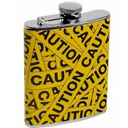 Scene of the Crime Hip Flask