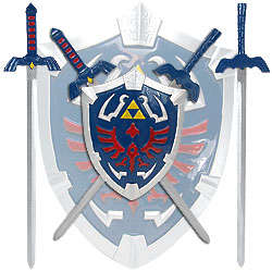 Legend Of Zelda Mini Sword Set with Shield