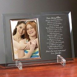 To My Friend Personalized Glass Picture Frame