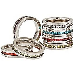 Stainless Steel Birthstone Band