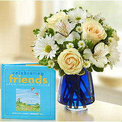 Celebrating Friends Flower Bouquet and Keepsake Book