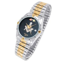 Men's Two-Tone Masonic Watch
