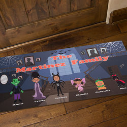 Personalized Oversized Haunted House Family Doormat