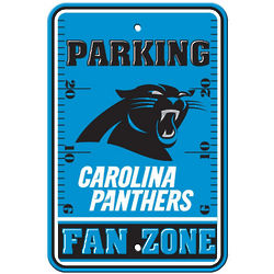 Carolina Panthers Plastic Parking Sign