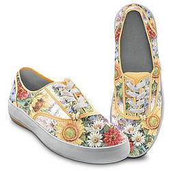 Women's Sunflower Splendor Canvas Sneakers