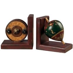 Antique Fishing Reel & Float Decorative Bookends
