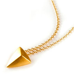 You are Mighty Pyramid Gold Dipped Necklace
