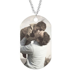 Large Personalized Color Photo Dog Tag