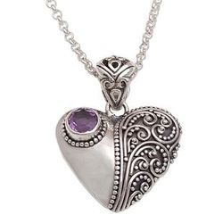 'Swirling Passion' Amethyst Pendant Necklace
