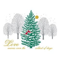 Love Warms Winter Trees T-Shirt