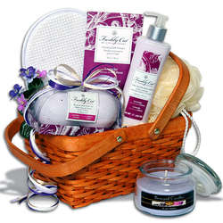 Candlelight Bubble Bath Spa Gift Basket