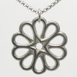 Sterling Silver Overlapping Hearts Rosette Pendant