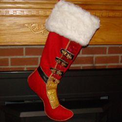 Santa's Boot Personalized Christmas Stocking