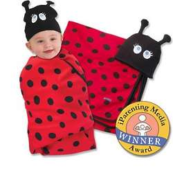 Ladybug Swaddle Blanket & Cap Set