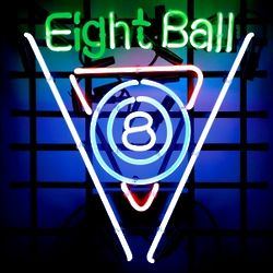 Lucky Eight Ball Neon Sign