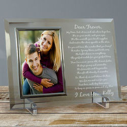 To My Love Personalized Glass Picture Frame