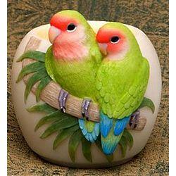 Lovebirds Parrot Votive Candle Holder