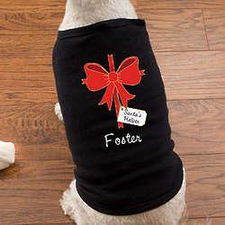 Christmas Bow Personalized Dog Shirt