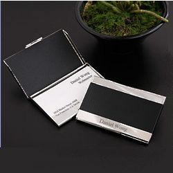 Engravable Slim Jim Business Card Case